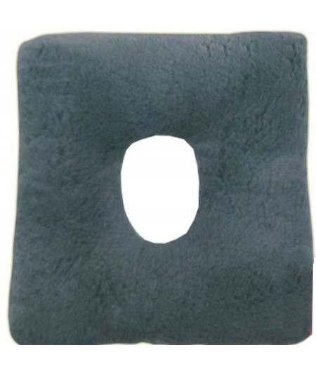 Cojín antiescaras de suapel Sanitized cuadrado con agujero en gris. UBIO