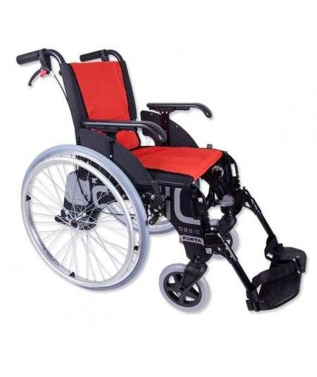 FORTA Basic R600 silla de ruedas en aluminio (con accesorios de cargo)