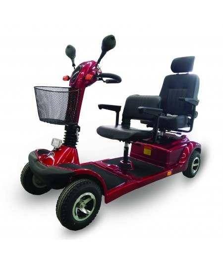 HAG Nico 4029 scooter biplaza de movilidad en rojo