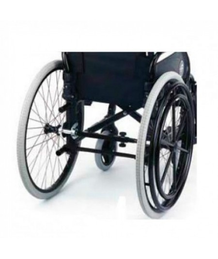 Silla de ruedas en aluminio SUNRISE Breezy RubiX 2 doble aro para hemiplejia