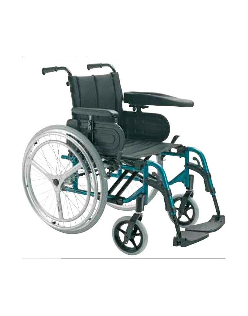 Silla de ruedas en aluminio INVACARE Action 4 Doble Aro Hemiplejia derecha