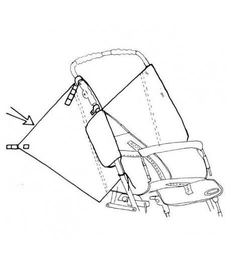 Extensión protector lateral REHAGIRONA Rehatom 4 accesorio para silla pc