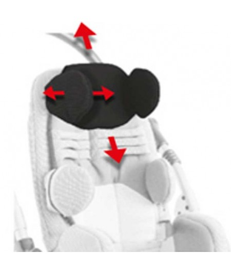 Apoyacabeza con protecciones parietales AYUDAS DINÁMICAS accesorio Bug