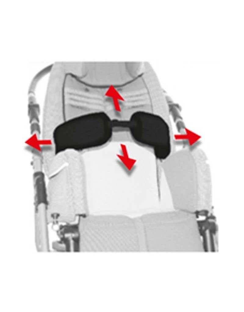 Soportes laterales de tronco artículados (Par) AYUDAS DINÁMICAS accesorio Bug