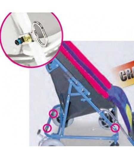 Kit de anclaje para transporte (4 anillos) AYUDAS DINÁMICAS accesorio silla Obi