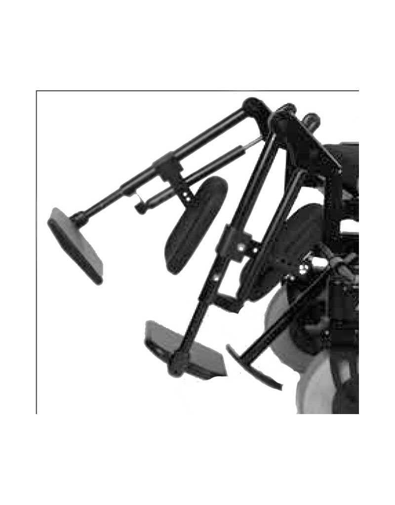 Reposapiés elevables de forma mecánica OTTOBOCK accesorio para silla de ruedas eléctrica A200
