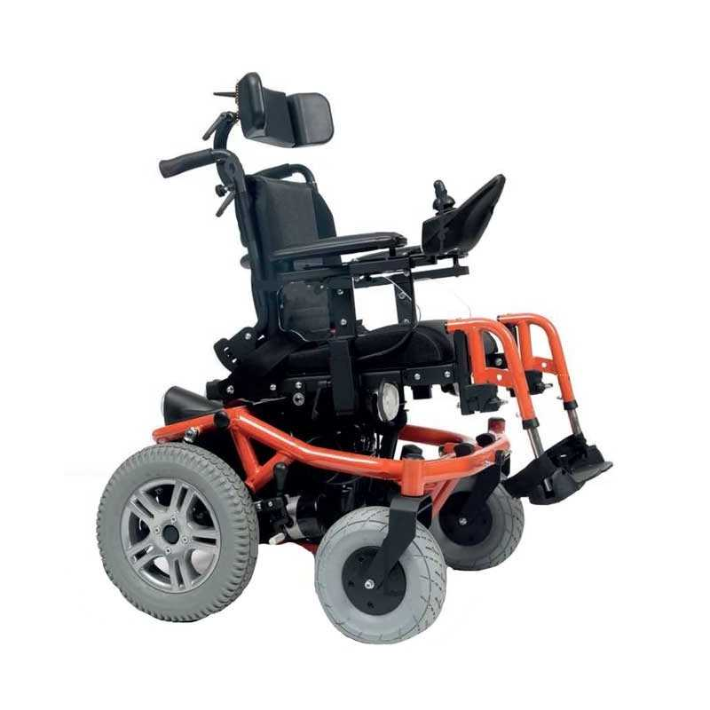 VERMEIREN Forest Kids silla de ruedas eléctrica en naranja