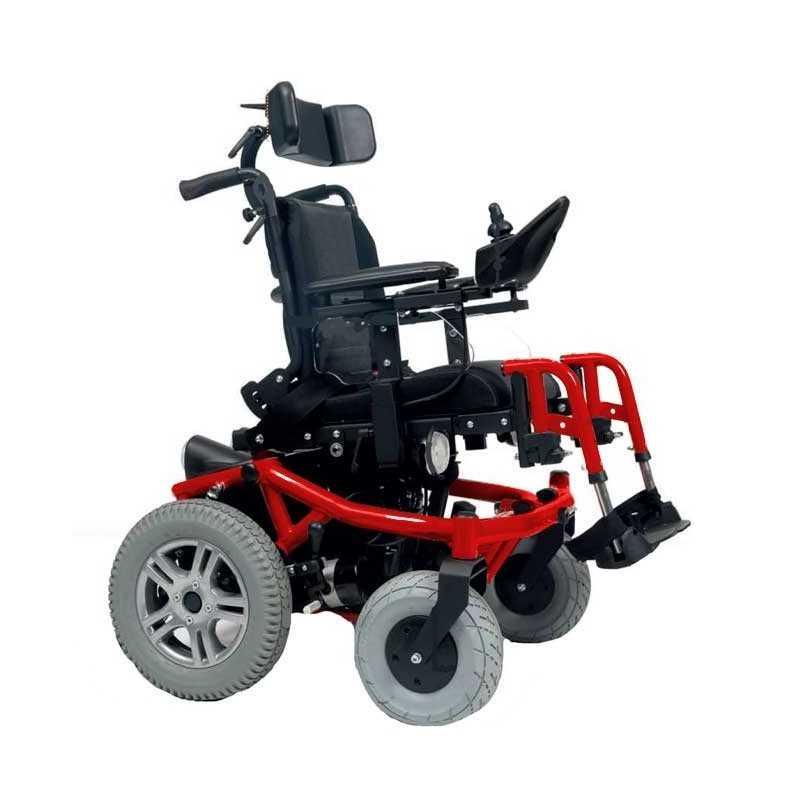 VERMEIREN Forest Kids silla de ruedas eléctrica en rojo